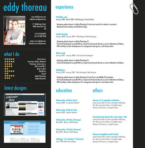 creating resumes in photoshop 9 helpful resume design tutorials to learn designbump