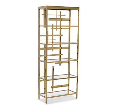 gold metal bookcase unique modern bookcases for a chic interior richard rabel