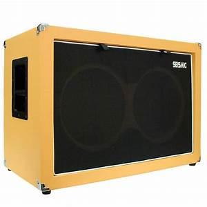 Empty Guitar Speaker Cabinet 2x12 Cab 212 Orange Tolex