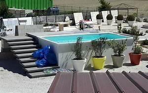 Piscine Composite Hors Sol : great une piscine hors sol dimensions m x m compose ~ Dailycaller-alerts.com Idées de Décoration