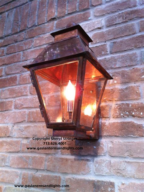 electric lanterns by garage traditional outdoor wall