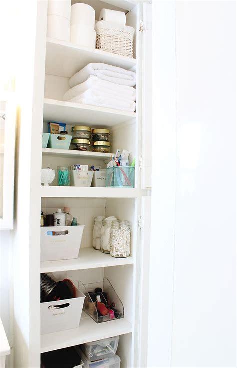 organize bathroom closet ideas  pinterest