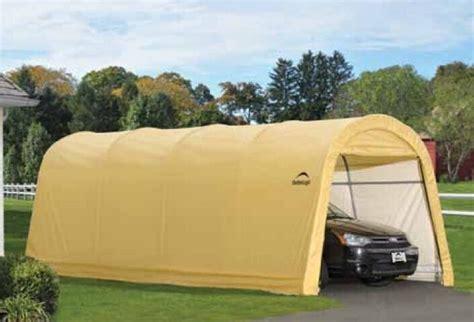 shelterlogic   tan auto shelter portable garage steel carport   ebay