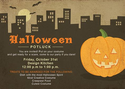 Halloween Potluck Invitation Ideas by Halloween Potluck Invitation On Behance