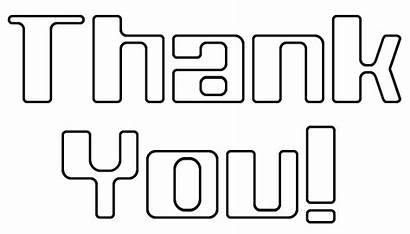 Thank Outline Clip Note Words Clipart Word