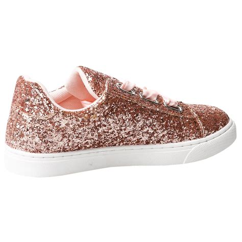 womens shoes ladies glitter flat trainers pumps sneakers