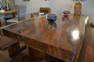 Solid Chunky Wood Dining Set