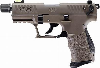 Walther P22 Fde Tactical Pistol 22lr Barrel