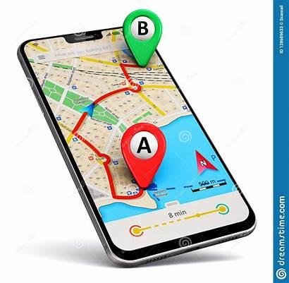 Gps Navigation App Map Smartphone Route Satellite
