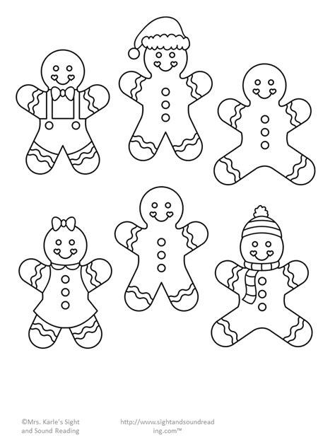 Gingerbread Man Cutout Activity Gingerbread man