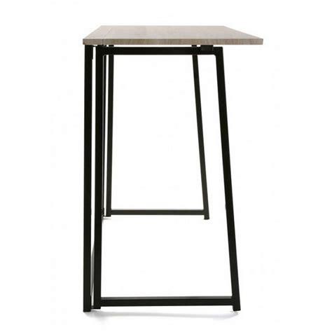 table de bureau pliante table de bureau pliante bois metal noir versa