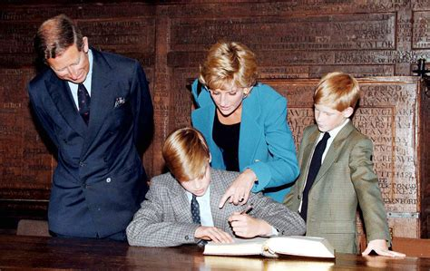 Prince Harry Looked On With His Parents Prince Charles
