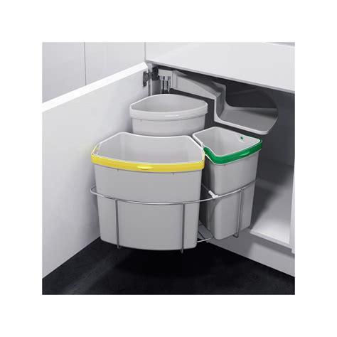 poubelle cuisine tri selectif 3 bacs poubelle tri sélectif pivotante 3 bacs 39 litres