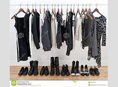 Female Black And White Clothes And Shoes Royalty Free