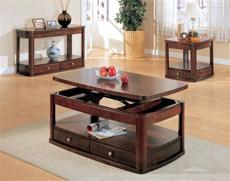 Sofa Table And End Table Set by Furniture Outlet Lift Top Storage Coffee Table End