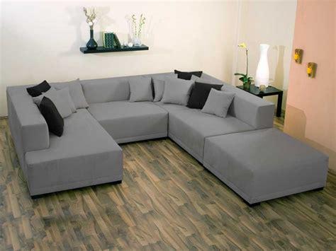 canape u canapé d 39 angle tissu u quot mat xl quot 9 10 places gris 25925