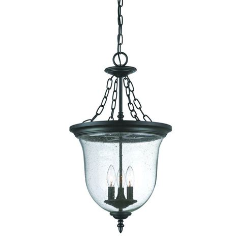 home depot outdoor hanging lights acclaim lighting belle collection 3 light matte black