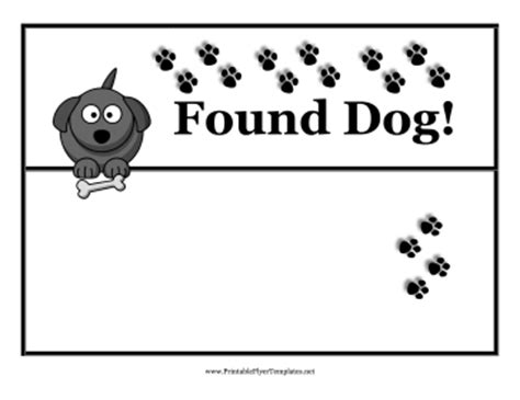 Lost Dog Template Free Costumepartyrun