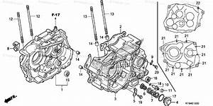 Honda Motorcycle 2009 Oem Parts Diagram For Crankcase