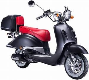 Motorroller 50 Ccm : gt union motorroller strada 50 ccm mattschwarz rot ~ Kayakingforconservation.com Haus und Dekorationen