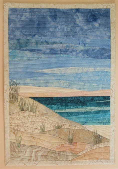Beach And Dunes Art Quilt  Art Quilts By Sharon