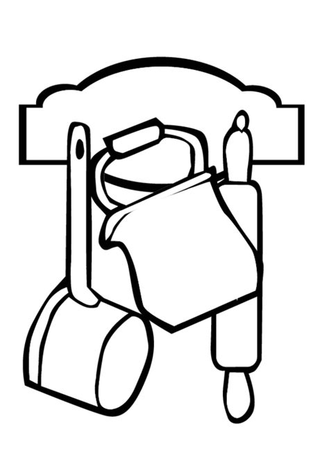 Coloring Utensil by Tools Colouring Pages Clipart Best