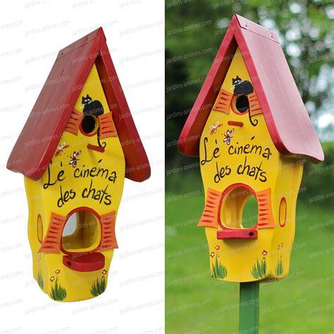 nichoir et mangeoire cin 233 ma des chats oiseaux du jardin