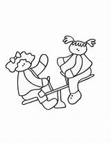 Coloring Saw Colouring Pages Teeter Totter Cliparts Seesaw Cartoon Printable Template Getcolorings Sketch Clip Library Clipart sketch template