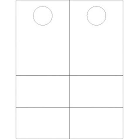 door hanger template word templates door hanger with tear away cards 2 per sheet avery