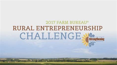bureau entrepreneur rural entrepreneurship challenge provides ag