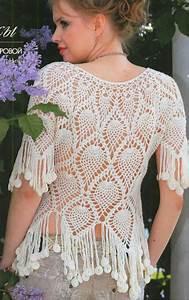 Crochet En S : bell sima blusa tejida con ganchillo con patrones y ~ Nature-et-papiers.com Idées de Décoration