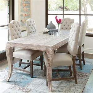 Grey Finish Dining Room Table - Rustic - Dining Room