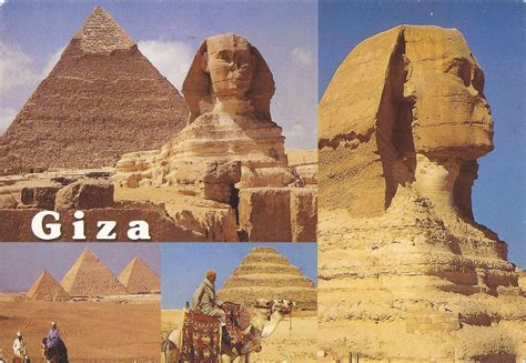 The Sphinx And Great Pyramid Of