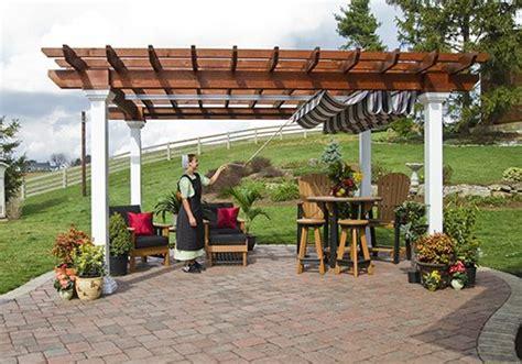 arcadian vinyl pergola green acres outdoor living