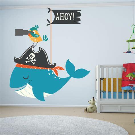 Kinderzimmer Wandgestaltung Pirat by Parrot Whale Pirate Bathroom Wall Sticker