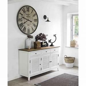 1000 idees sur le theme maison du monde horloge sur pinterest With amazing meubles pour petits espaces 9 salon au style industriel bois metal