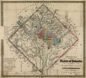 Topographical Map Of The Original District Of Columbia And