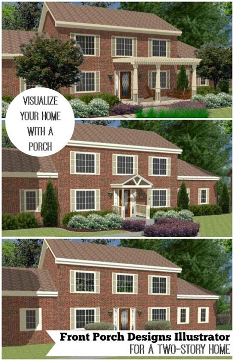 great front porch designs illustrator    story home