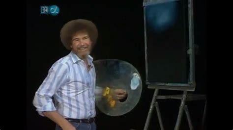 Bob Ross Really Enjoyed Beating The Devil Out Of His