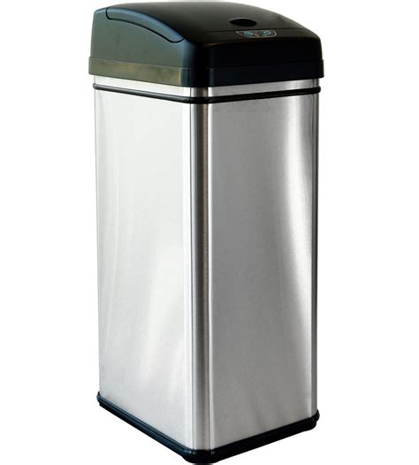stainless steel automatic trash   kitchen trash cans