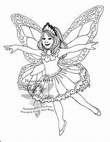 Fairy Coloring Butterfly Fairies Adults Doll Wings Paper Monarch Detailed Illustration Illustrations Mermaid Titled Second Outfits Getdrawings Colorings Ii sketch template