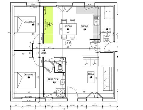 plan de maison plain pied gratuit 3 chambres plan maison le masson