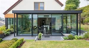 veranda acier alu et bois With veranda sur terrasse bois
