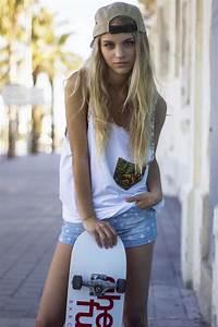 skater girl #polkadots #demin shorts | Forever young ...