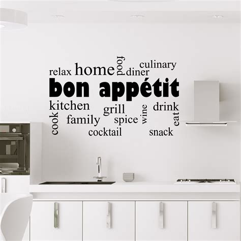 sticker mural cuisine sticker cuisine design bon appé stickers cuisine