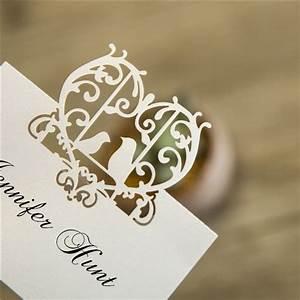 cheap love birds laser cut place card ewpc002 as low as 0 With love bird wedding invitations laser cut