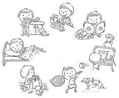 pin  andrea sokolakova  kids daily routine