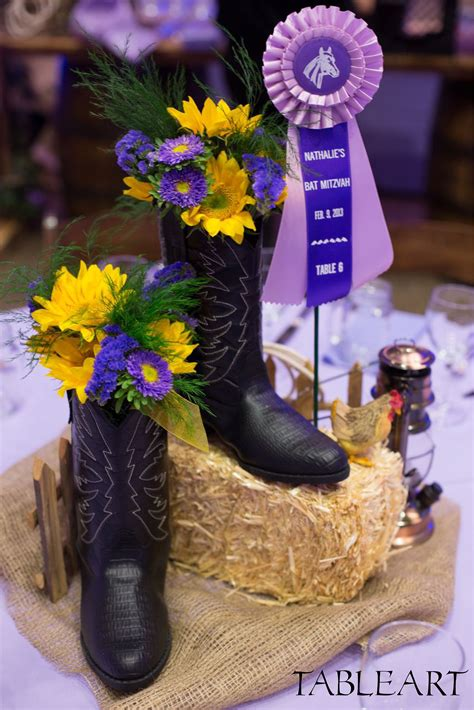 Country Western Centerpiece by Tableart Cowboy party