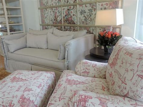 Chateau Sofa Slipcover With Arm Ties + Fun Fabric Pattern