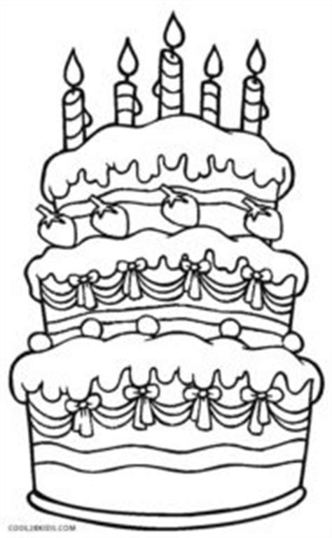 printable birthday cake coloring pages  kids coolbkids